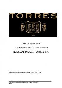 BODEGAS MIGUEL TORRES S.A
