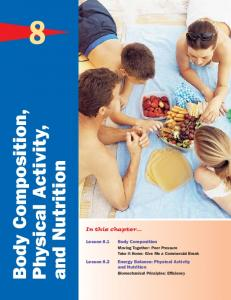 Body Composition. Physical Activity, and Nutrition