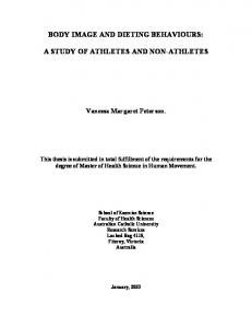 BODY IMAGE AND DIETING BEHAVIOURS: A STUDY OF ATHLETES AND NON-ATHLETES