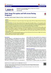 Body Image Perception and Self-esteem During Pregnancy