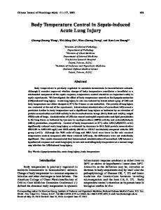 Body Temperature Control in Sepsis-induced Acute Lung Injury