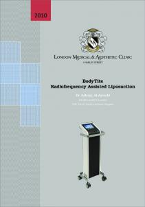 BodyTite Radiofrequency Assisted Liposuction