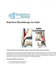 BodyZone Physiotherapy for Ankle