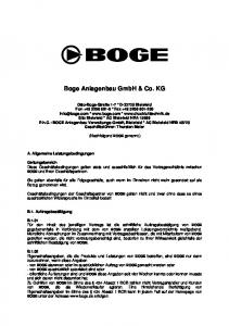 Boge Anlagenbau GmbH & Co. KG