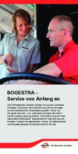 BOGESTRA Service von Anfang an