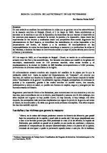 BOJAYA: LA CULPA DE LAS VICTIMAS Y DE LOS VICTIMARIOS