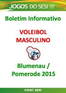 Boletim Informativo VOLEIBOL MASCULINO