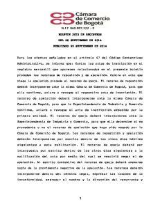 BOLETIN 3672 DE REGISTROS DEL 26 SEPTIEMBRE DE 2014 PUBLICADO 29 SEPTIEMBRE DE 2014