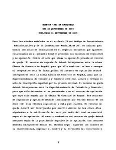 BOLETIN 4033 DE REGISTROS DEL 22 SEPTIEMBRE DE 2015 PUBLICADO 23 SEPTIEMBRE DE 2015