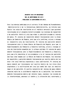 BOLETIN 4040 DE REGISTROS DEL 29 SEPTIEMBRE DE 2015 PUBLICADO 30 SEPTIEMBRE DE 2015