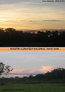 BOLETIN CLIMATICO NACIONAL MAYO 2008