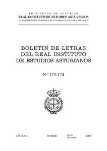 BOLETIN DE LETRAS DEL REAL INSTITUTO DE ESTUDIOS ASTURIANOS