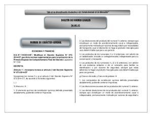 BOLETIN DE NORMAS LEGALES