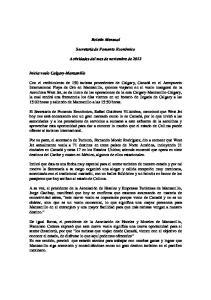 Boletín Mensual. Secretaría de Fomento Económico. Actividades del mes de noviembre de 2012