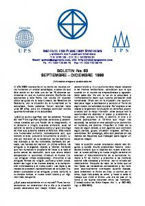 BOLETIN No. 83 SEPTIEMBRE DICIEMBRE 1998