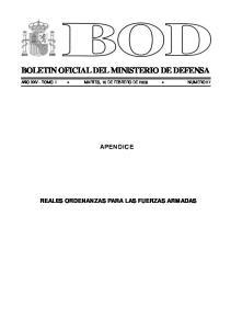 BOLETIN OFICIAL DEL MINISTERIO DE DEFENSA