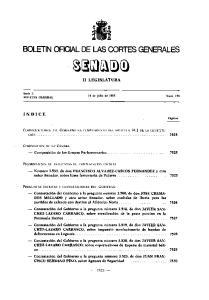 BOLETlN OFICIAL DE LAS CORTES GENERALES