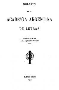 BOLETtN DE LA ACADEMIA ARGENTINA DE LETRAS TOJIIIO X. - N0 89. J'ulio-aeptiembre de 1942 BUENOS AIRES
