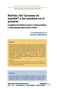 Bolivia: del proceso de cambio a los cambios en el proceso