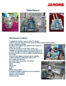 Bolso Playero Materiales para el proyecto: