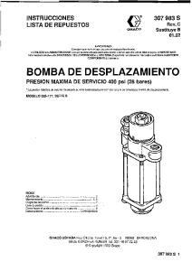BOMBA DE DESPLAZAMIENTO