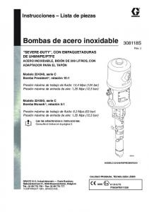 Bombas de acero inoxidable