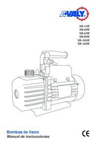 Bombas de Vacío Manual de instrucciones VA-15N VA-30N VA-50N VA-80N VA-100N VA-120N