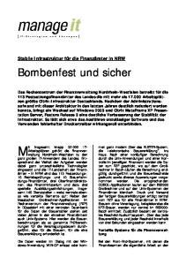 Bombenfest und sicher