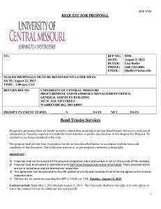Bond Trustee Services