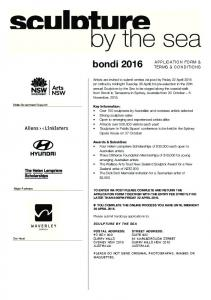 bondi 2016 APPLICATION FORM & TERMS & CONDITIONS