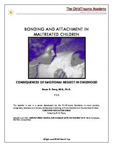 BONDING AND ATTACHMENT IN MALTREATED CHILDREN