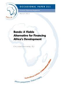 Bonds: A Viable Alternative for Financing Africa s Development