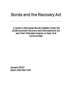 Bonds and the Recovery Act