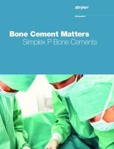 Bone Cement Matters Simplex P Bone Cements