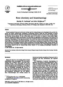 Bone chemistry and bioarchaeology