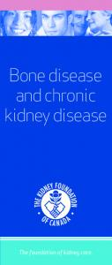 Bone disease and chronic kidney disease