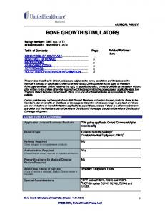 BONE GROWTH STIMULATORS