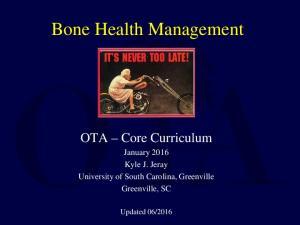 Bone Health Management. uii