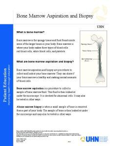 Bone Marrow Aspiration and Biopsy