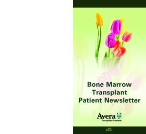 Bone Marrow Transplant Patient Newsletter