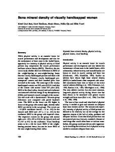 Bone mineral density of visually handicapped women