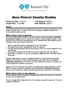 Bone Mineral Density Studies