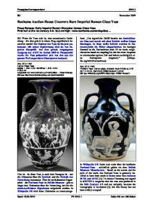Bonhams Auction House Uncovers Rare Imperial Roman Glass Vase