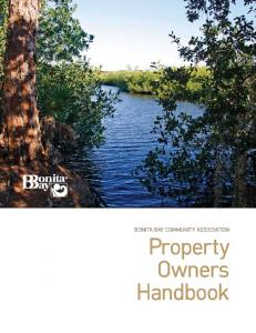 Bonita Bay Community Association Property. Handbook