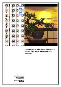 Bonsai Kompendium wiedzy