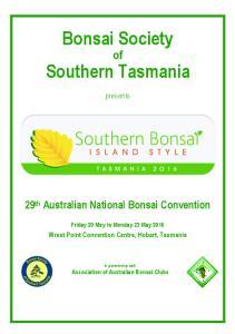 Bonsai Society. Southern Tasmania