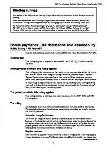 Bonus payments - tax deductions and assessability