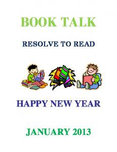 BOOK TALK RESOLVE TO READ HAPPY NEW YEAR