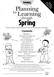 Books. Planning. Learning. through. Contents. Making plans 2-3. Using the Early Learning Goals 4-6. EYFS Planning Chart 7