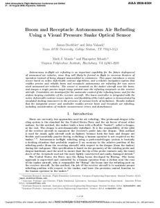 Boom and Receptacle Autonomous Air Refueling Using a Visual Pressure Snake Optical Sensor